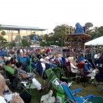 Thousands of people from all different ages and cultures came to enjoy great jazz music.