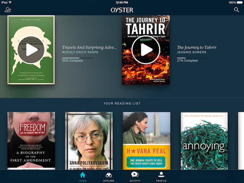 Oyster Ebook Reader