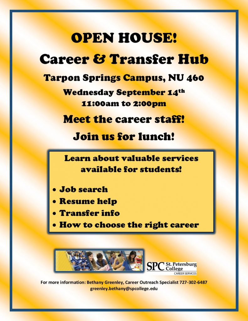 OPEN HOUSE Career and Transfer Hub fall 2016-page-001